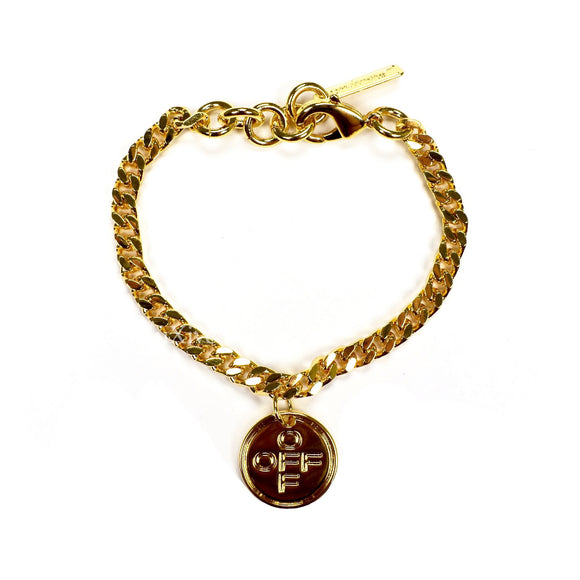 Off-White - Gold Cross Logo Chain Bracelet