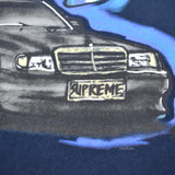 Supreme - Navy Mercedes 190E Logo T-Shirt