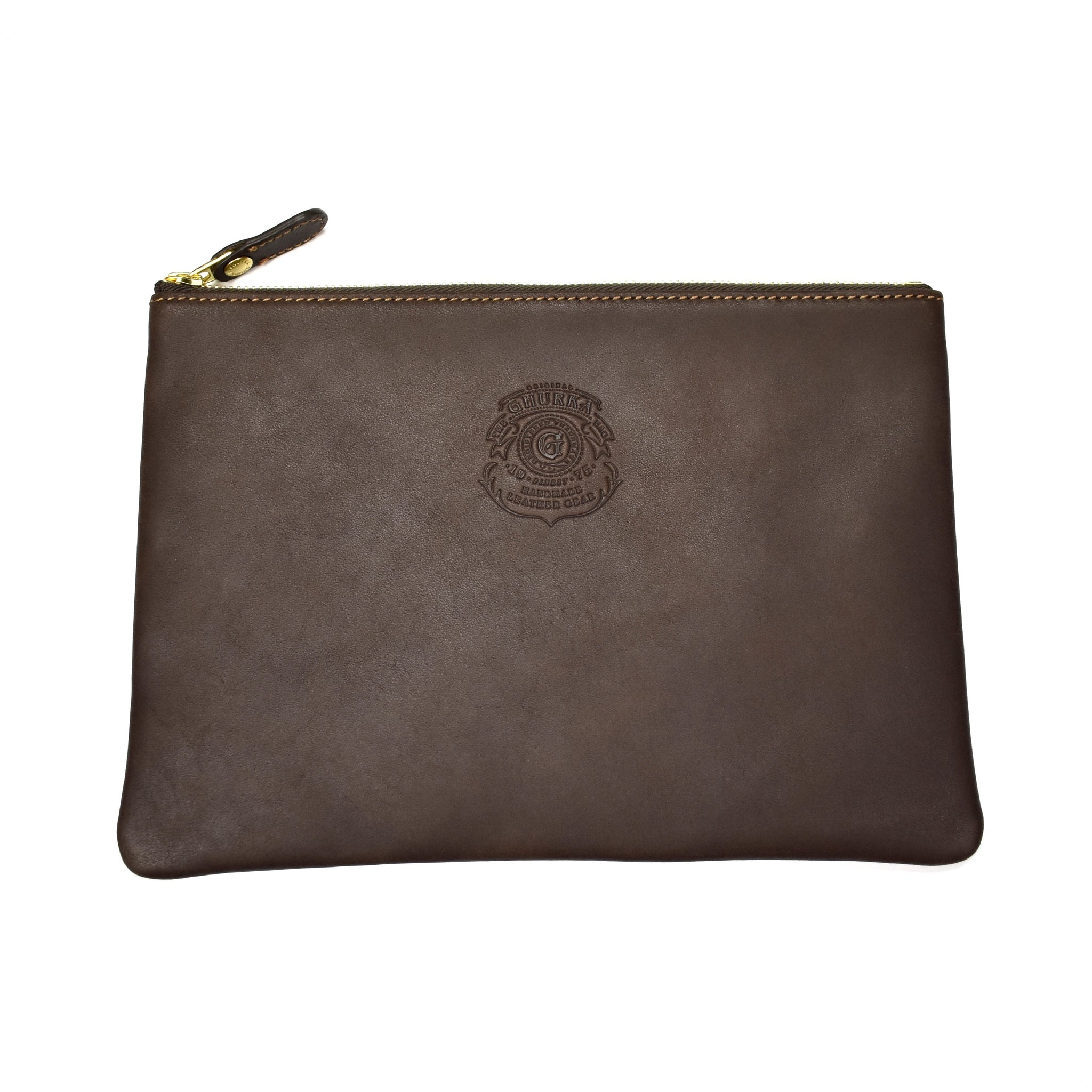 Ghurka - Walnut Brown Leather Pouch No. 64