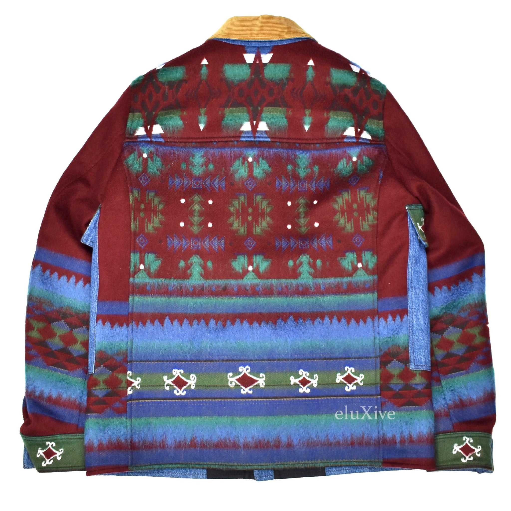 Valentino - Men s Multicolor Textured Navajo Blanket Woven Wool ... 7a690c09d