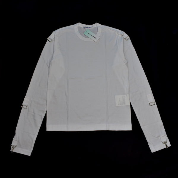 Comme Des Garcons - White Buckle Sleeve T-Shirt
