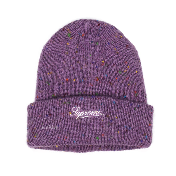 Supreme - Colored Speckle Logo Beanie (Purple)
