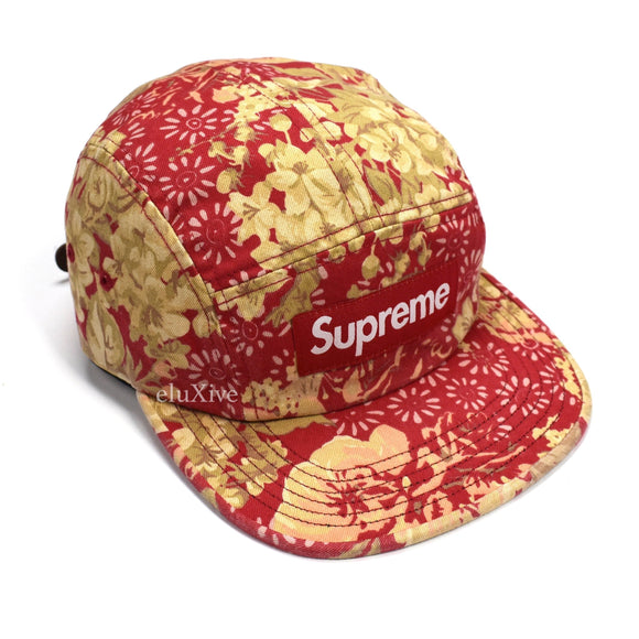 Supreme - Red Box Logo Floral Chino Hat