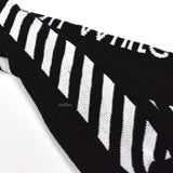 Off-White - Black Stripe Logo Socks