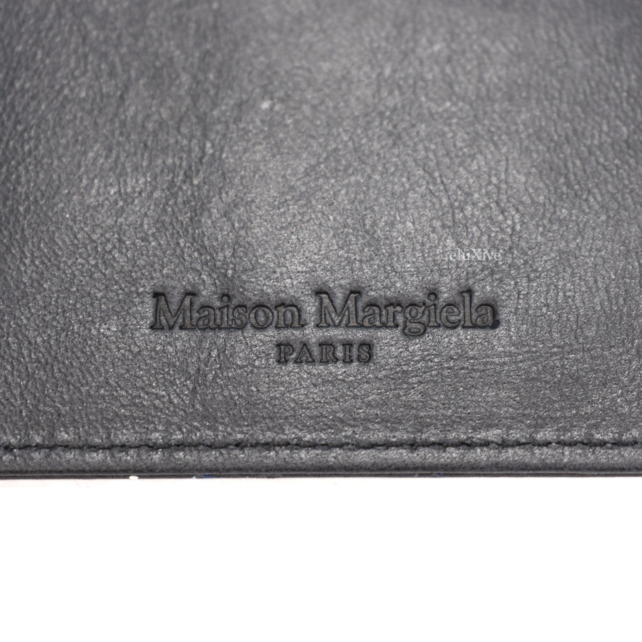 Maison Margiela - Black Paint Splatter Card Holder