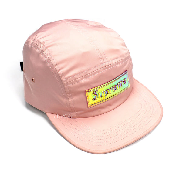 Supreme - Pink Iridescent Box Logo Hat