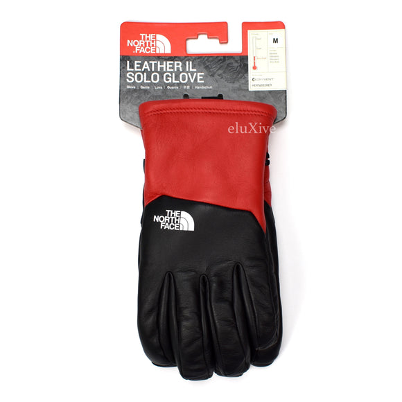 Supreme x The North Face - Red / Black Leather Gloves