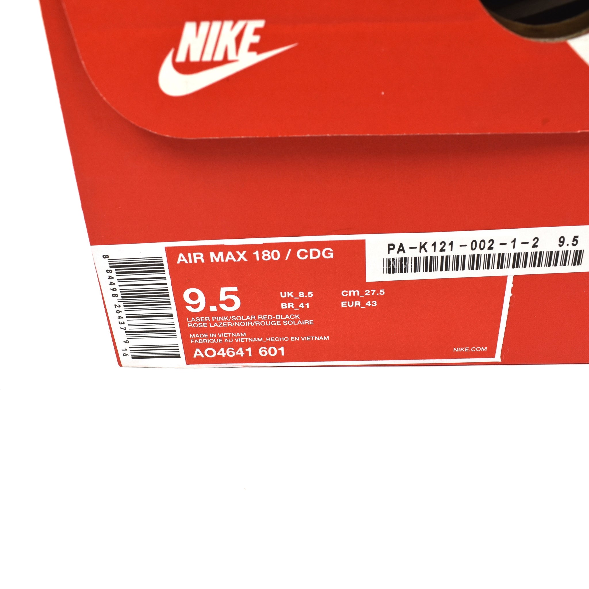 Comme des Garcons x Nike - Air Max 180 CDG (Black)
