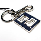 Fendi - Leather & Metal Monogram Keychain
