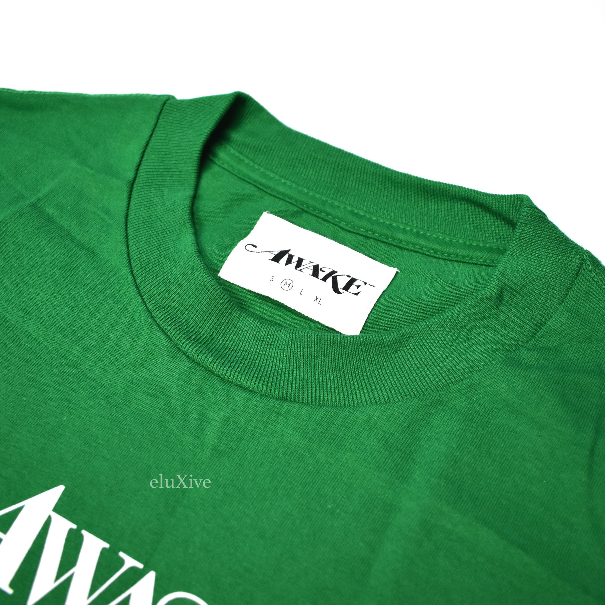 Awake NY - Green Logo Print T-Shirt