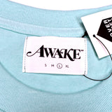 Awake NY - Aqua Metallic Logo T-Shirt