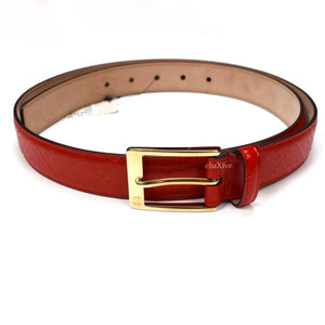 Gucci - Red Diamante Leather Belt