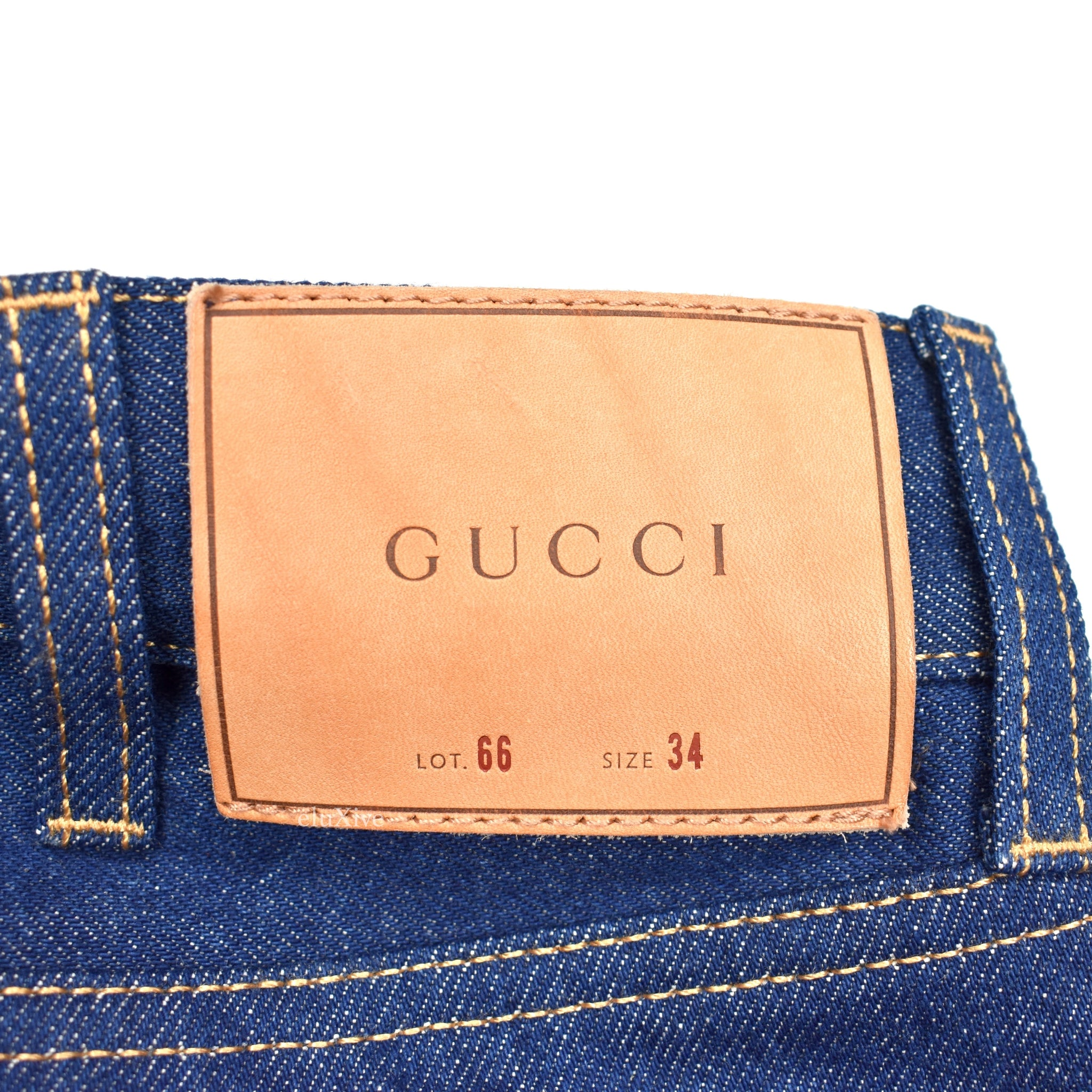 Gucci - Dark Blue Japanese Denim Jeans