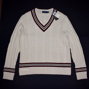 Polo Ralph Lauren - Cream Cable Knit Tennis Sweater
