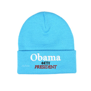 Supreme - Obama Logo Beanie (Bright Blue)