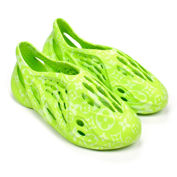 Imran Potato - LV Print 'Lobster' Foam Runner (Green)
