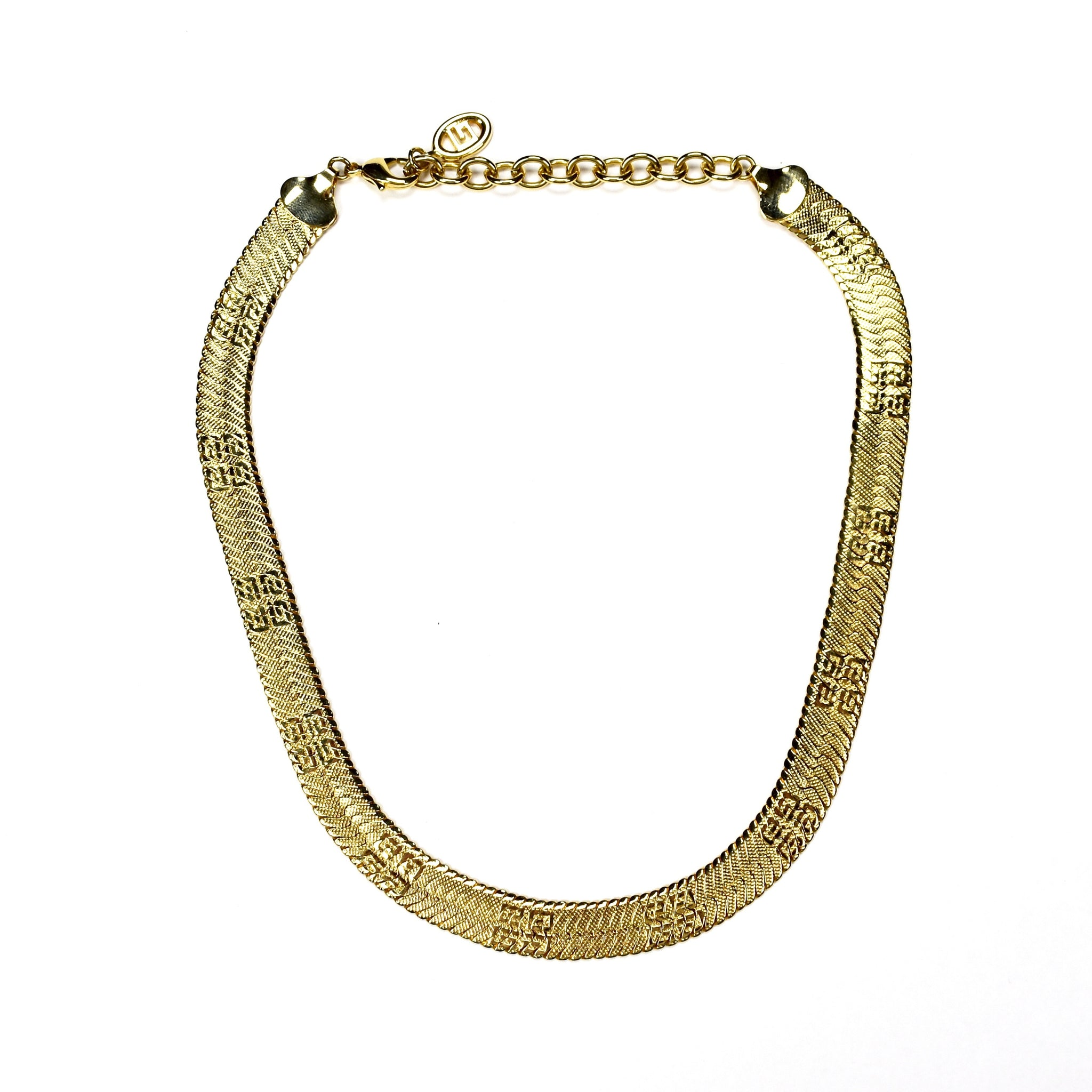 Givenchy - Gold Logo Engraved Chain Necklace