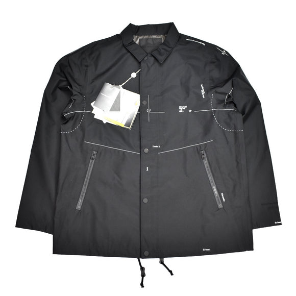 White Mountaineering - Blueprint Gore-Tex Coach's Jacket