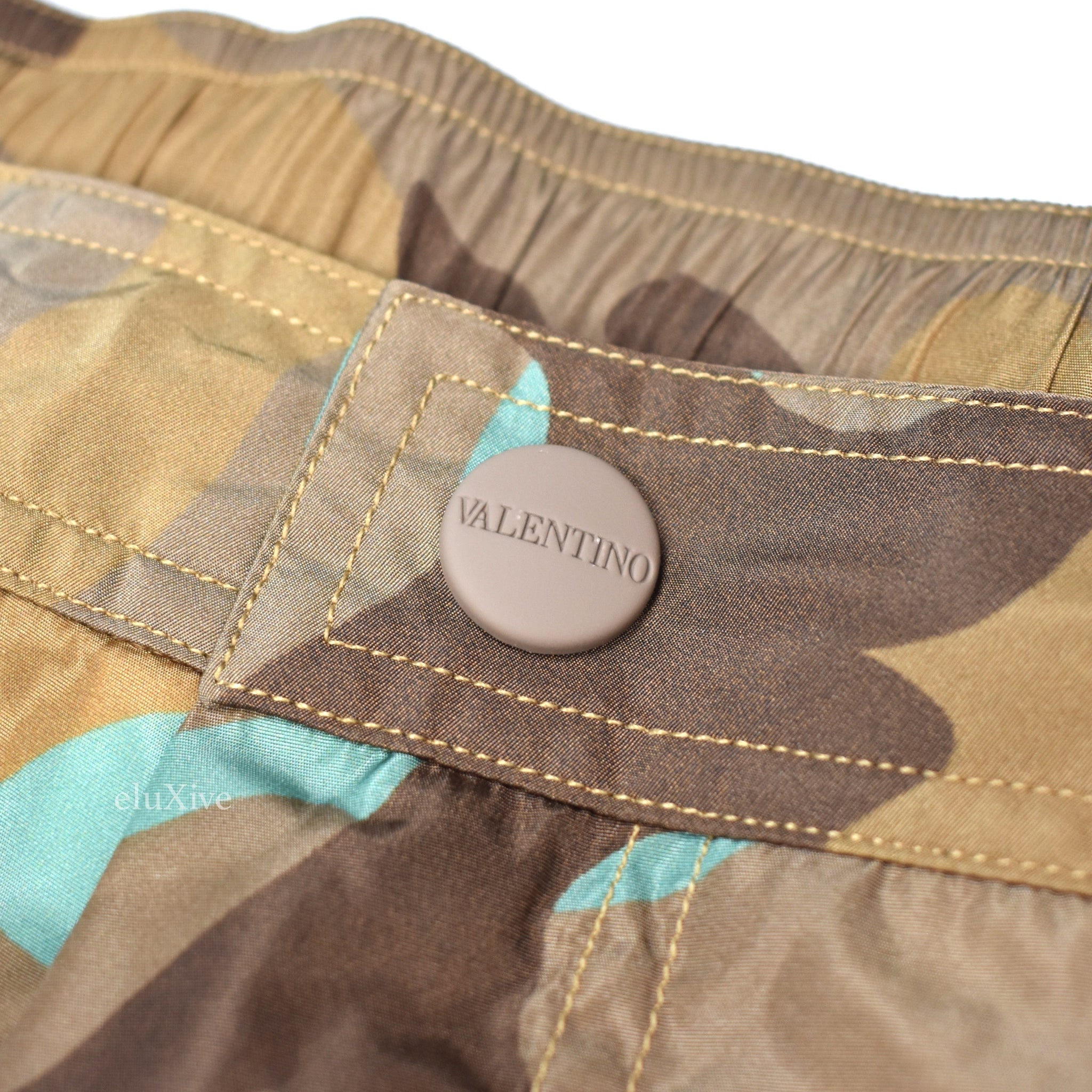 Valentino - Camo Print Swim Trunks