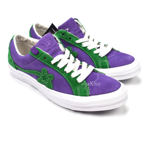 754bab477187ad Converse x Golf Wang - Purple   Green  Golf Le Fleur  One Star ...