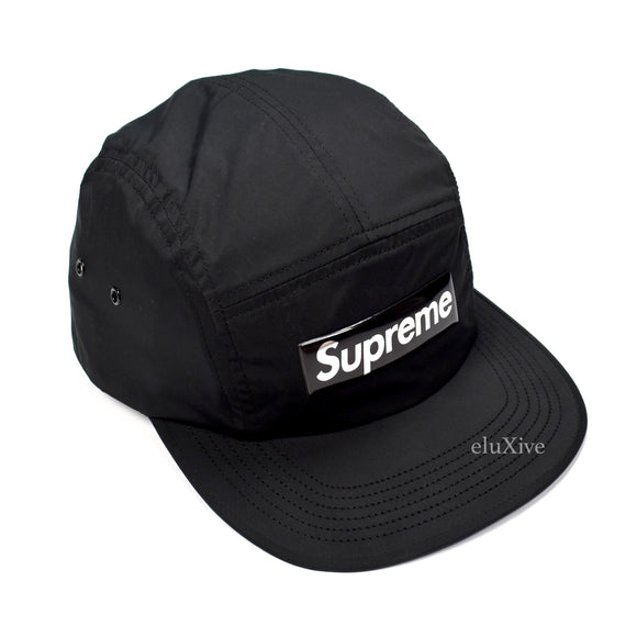 Supreme - Black Box Logo Liquid Metal Hat