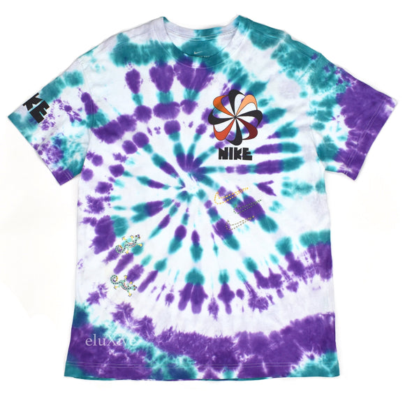 Nike - Tie-Dye Hand Embroidered Swoosh Logo T-Shirt
