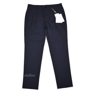 Maison Margiela - Navy Pleated Wool Pants