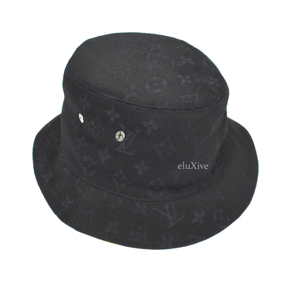 Louis Vuitton - Monogram Denim Woven Bucket Hat (Black)