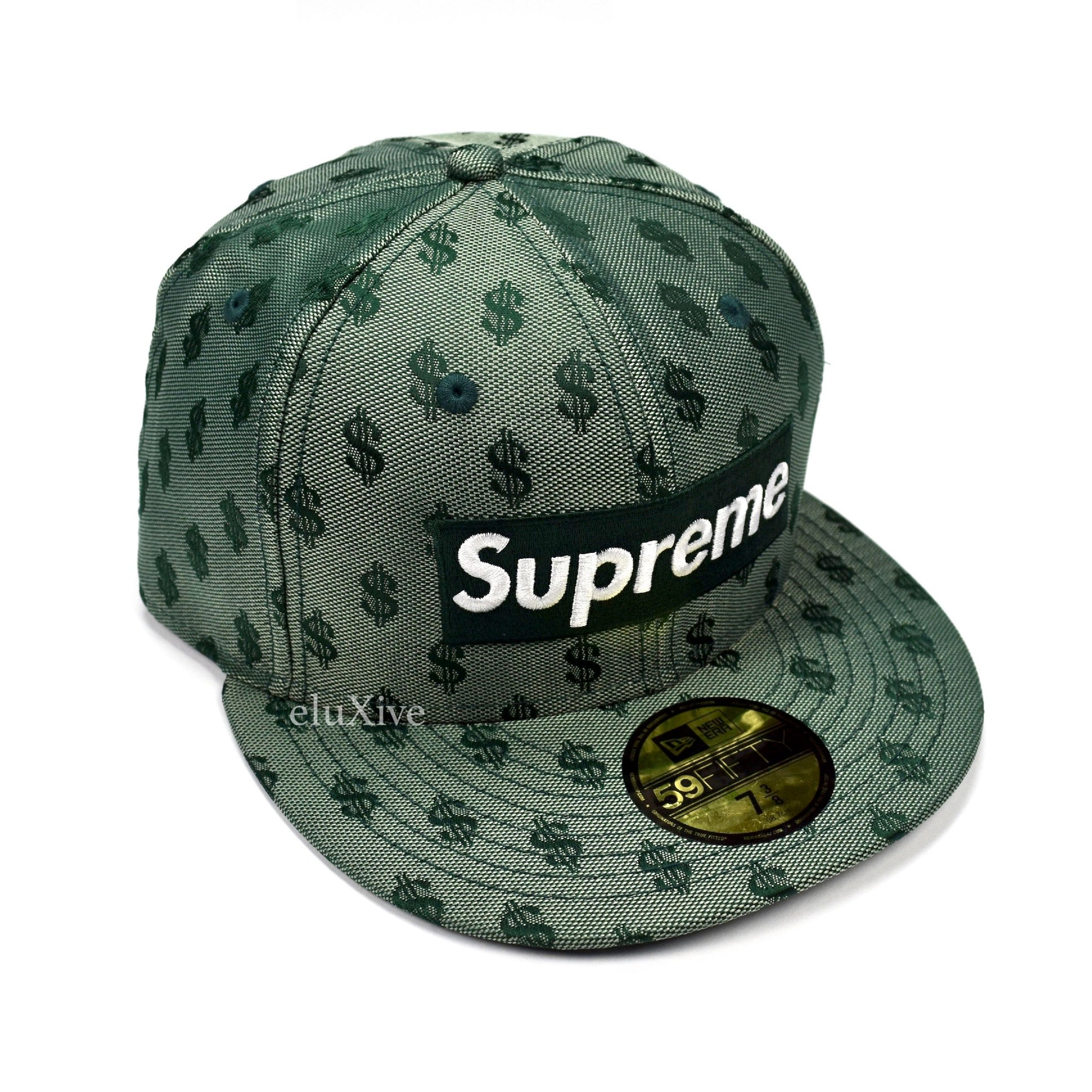 Supreme x New Era - SS18 Green Box Logo Monogram 59FIFTY Fitted Cap ... cb907cb5488