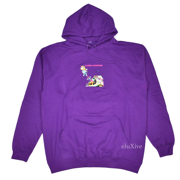 Collection 26 - Purple 'Graduation' Artwork Embroidered Hoodie