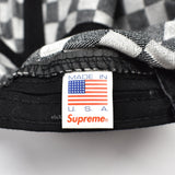 Supreme - Black Box Logo Checkered Hat