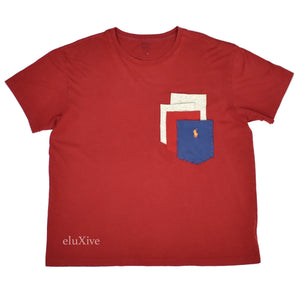 Polo Ralph Lauren - Misplaced Pockets Logo T-Shirt (Red)