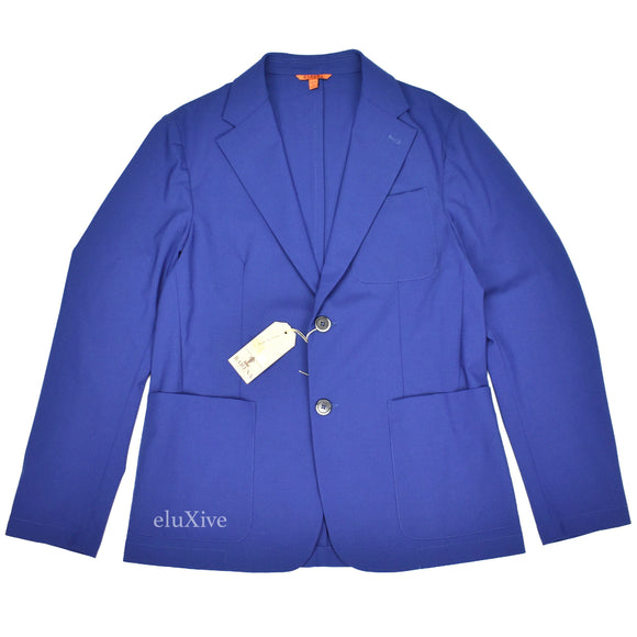 Barena - Blue Unlined Stretch Wool Blazer