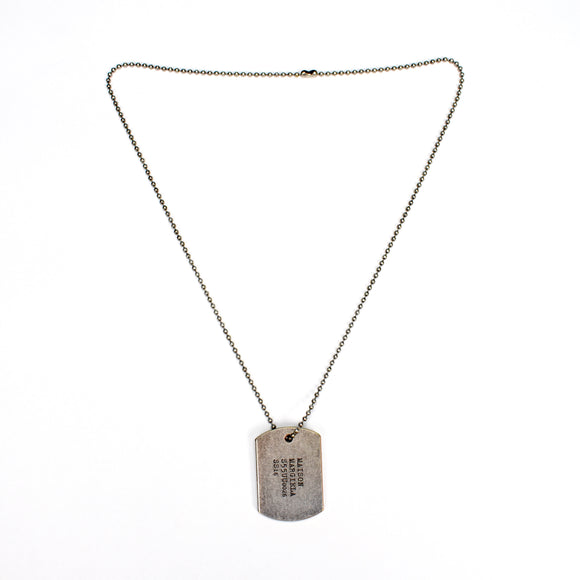 Maison Margiela - Dog Tag Logo Pendant Necklace