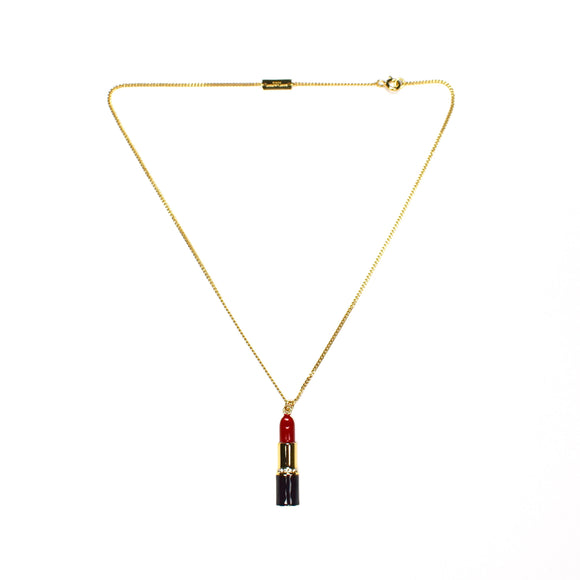 Saint Laurent - Gold Lipstick Pendant Necklace