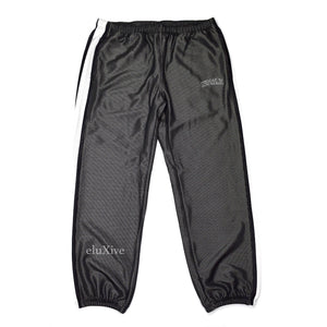 Supreme - Black Mesh Arc Logo Track Pants