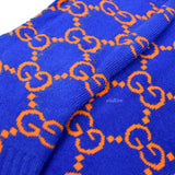 Imran Potato - Blue/Orange 'Gucci' Logo Knit Socks