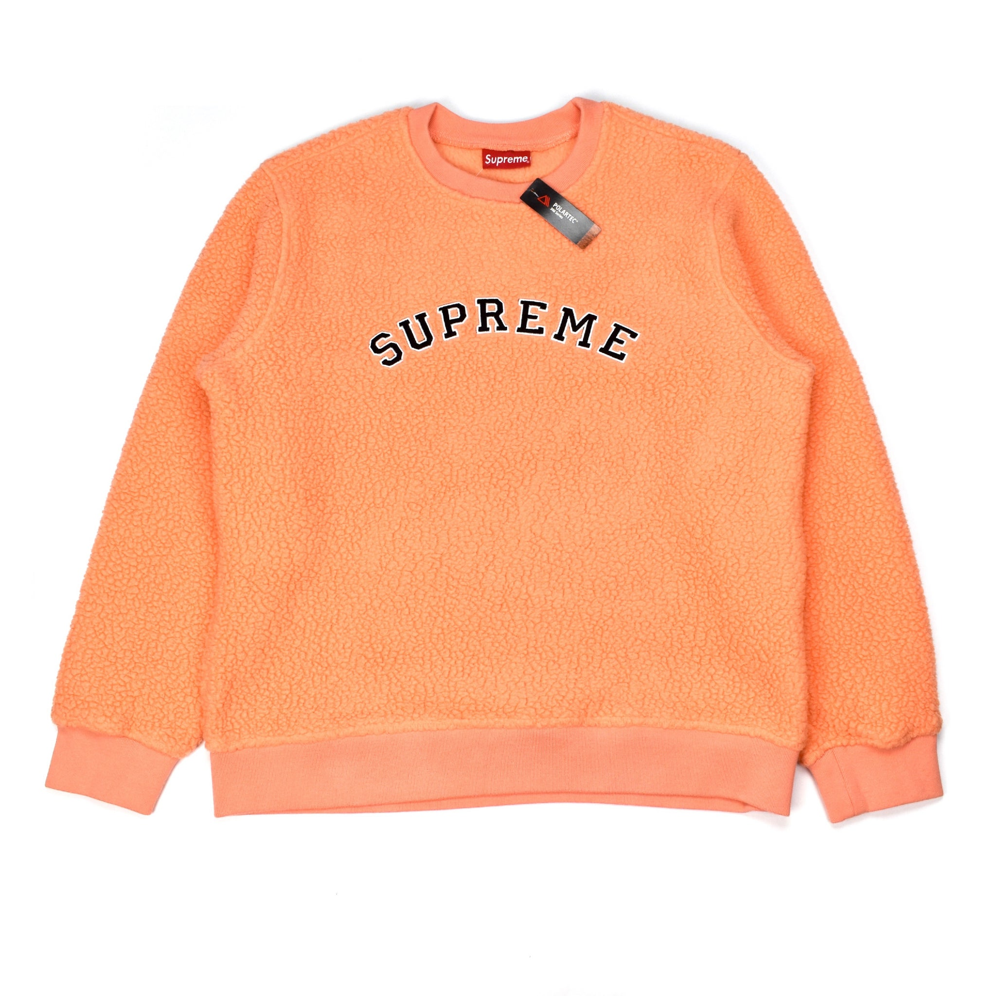 Supreme - Peach Polartec Deep Pile Sweatshirt