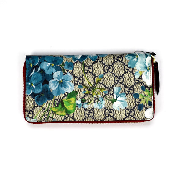 Gucci - GG Supreme Blooms Wallet (Blue/Red)