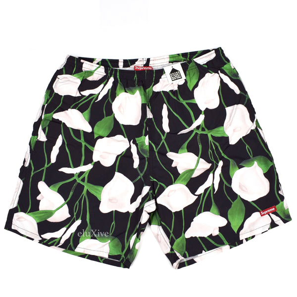 Supreme - Lily Print Swim Shorts
