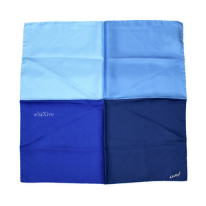Lanvin - Blue Color Block Silk Pocket Square