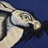 Gucci - Blue Rabbit Embroidered Sweatshirt