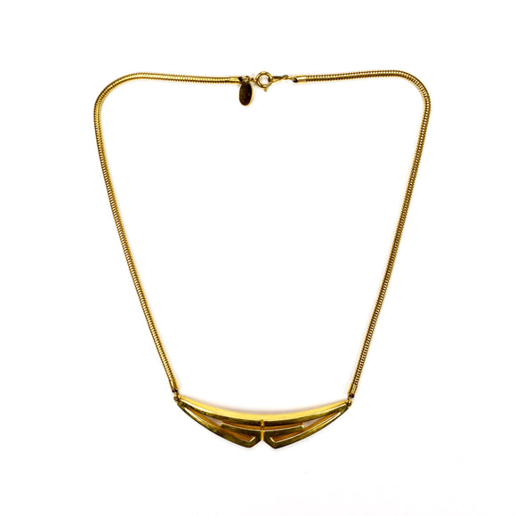 Givenchy - 1976 Runway Gold Mirrored G Logo Necklace