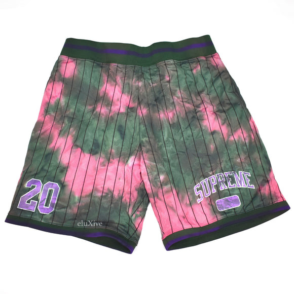 Supreme - Dyed Arc Logo Basketball Shorts (Green)
