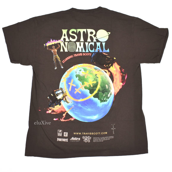 Travis Scott - Fortnite Event Logo T-Shirt (Brown)