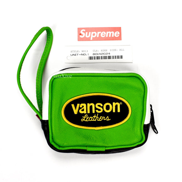 Supreme x Vanson - Multicolor Leather Wrist Bag