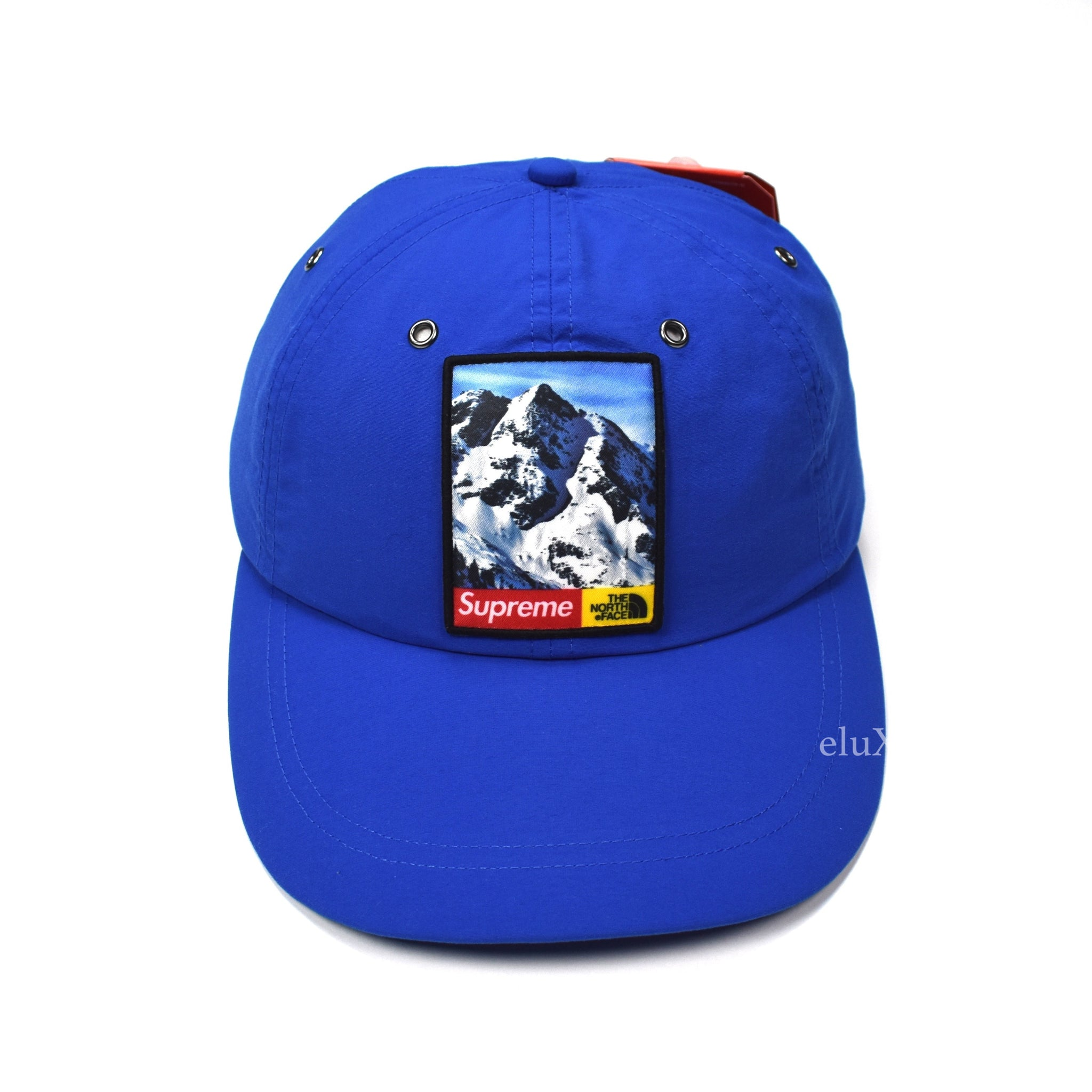 Supreme x The North Face - Royal Blue Mountain Photo Box Logo Hat ... 73257c958ef