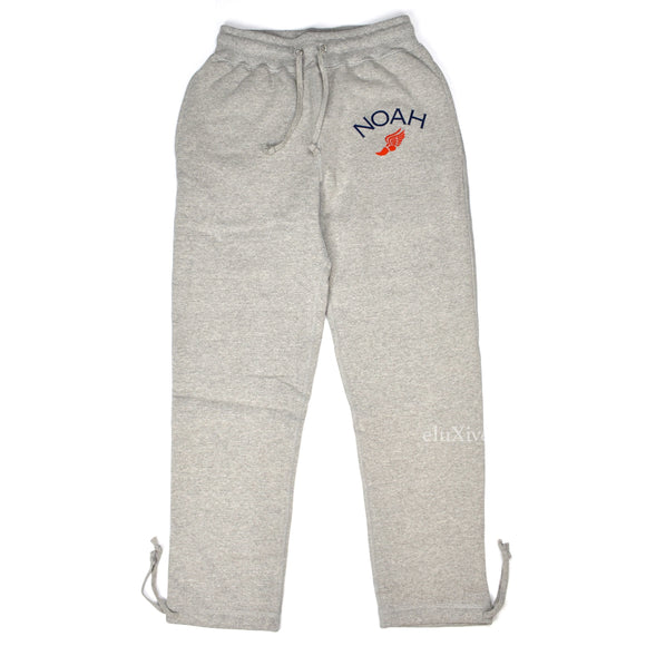 Noah - Gray Winged Foot Logo Sweatpants