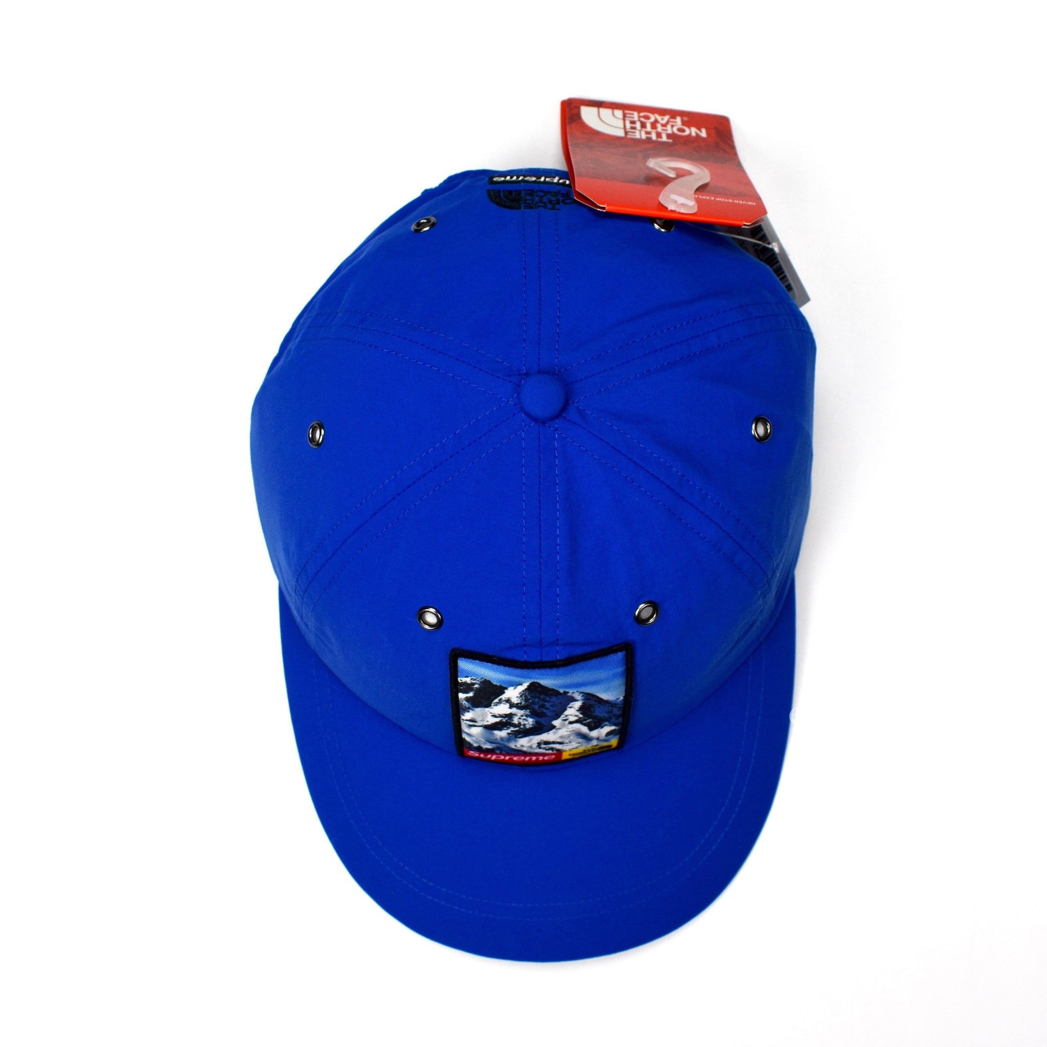 44b70207503 ... Supreme x The North Face - Blue Mountain Logo Hat retail prices 722e5  a2b1c ...