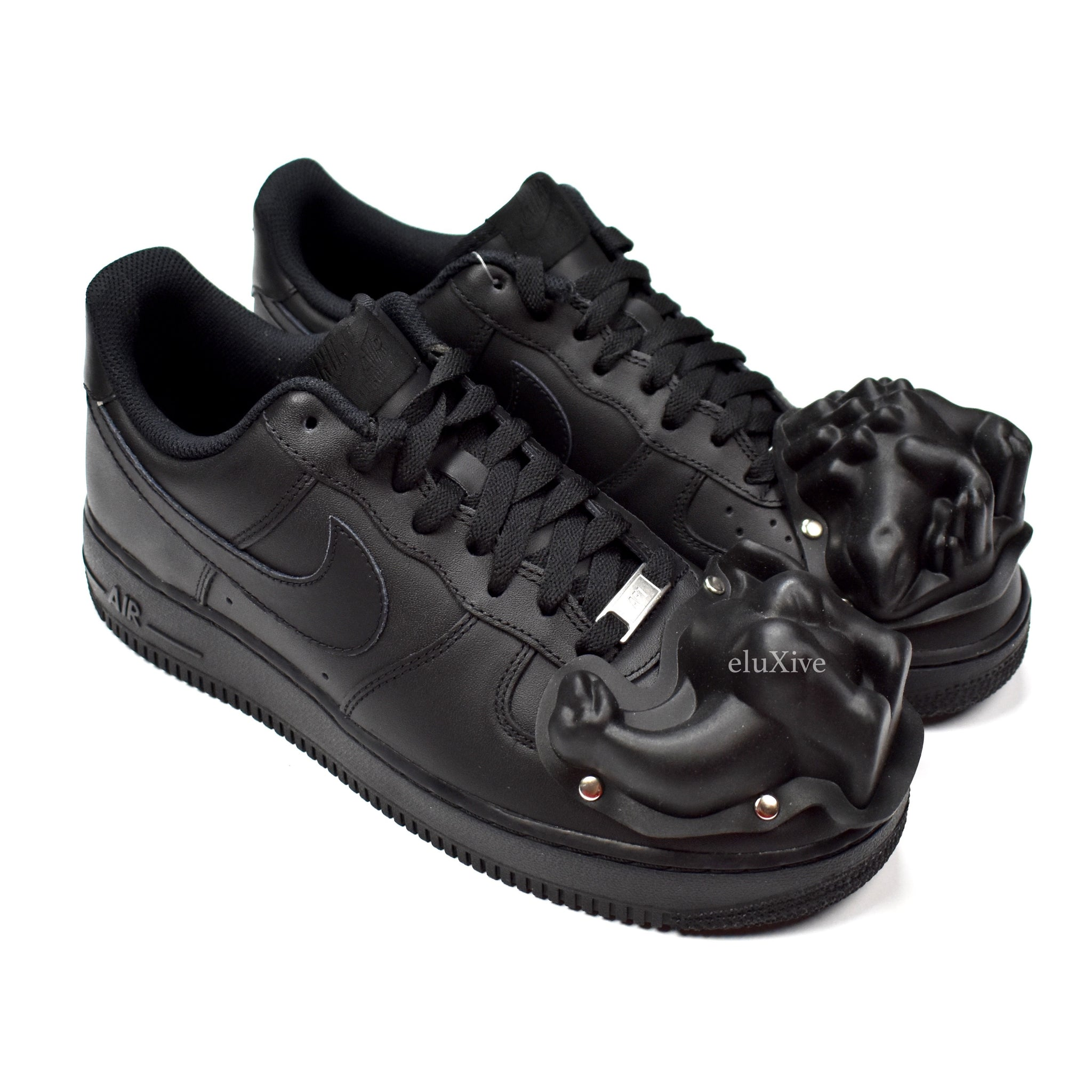 comme des garcons x nike air force 1 basso uomini dinosauro tep (black